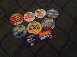 Burger King buttons