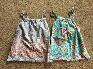 2 girls tops with straps to adjust sizing
