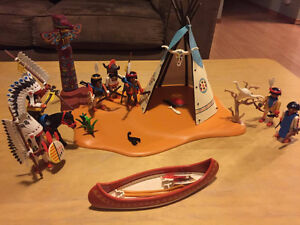 Playmobil western and aboriginal lot