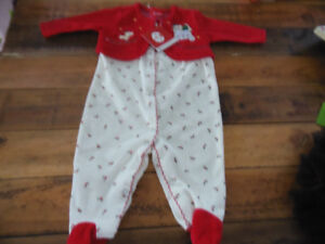Brand new baby's first christmas 0-3  month baby sleepers
