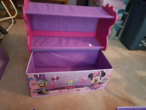 Minnie mouse storage and 2 big toy boxes