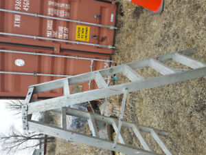 Step ladder 6 ft industrial, walk up either side.