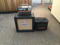 Electric Guitar Amp. Orange Micro Dark head including cab and carry bag