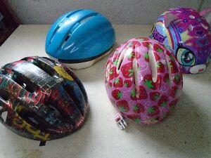 4 Helmets for sale