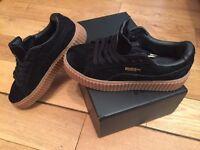 Rihanna Fenty Creepers Puma Black Oat Sole Unisex Shoe Trainers Girls Women's
