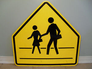 Never Used Real School Crossing Traffic Sign