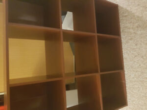 Shelf Unit-9 Sections-Wooden Brown-3 feet