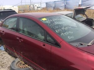 2006 Honda Civic Sedan Red for Parts. New Parts Available Too.