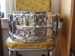 Peace Hand Hammered Stainless Steel Snare Drum