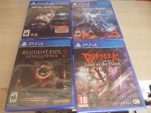 Playstation 4 game lot(sealed)