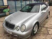 Mercedes-Benz CLK230 Kompressor 2.3 auto CONVERTIBLE - 2003 03-REG -9 MONTHS MOT