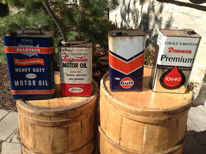ALL STATE LAURENTIEN GULF DOMINION OIL CANS - PARKER PICKERS -