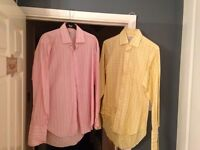 2 mens TM Lewin shirts size 16 reg fit