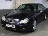 Dec 2005 '55' MERCEDES-BENZ C220 2.1 CDI SE AUTO COUPE 3 Door LEATHER 2 Keys