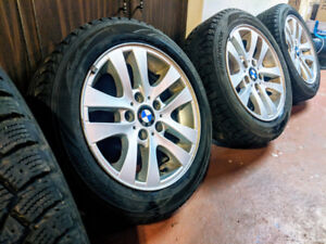Winter tires/Pneu d'hiver, 4 BMW rims=used only half a winter