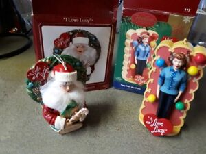 two Lucy xmas bulbs