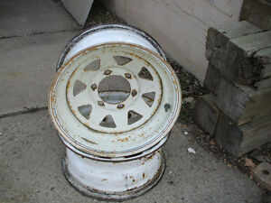 TWO 15 INCH SIX BOLT CHEVY/GMC MAG RIMS