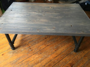Reclaimed wood/pipe hand made coffee table