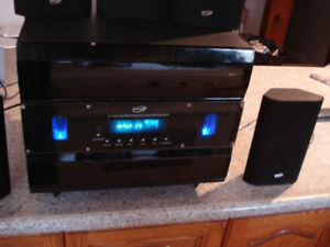 Stereo home system with 5.1 channel sound with remote control