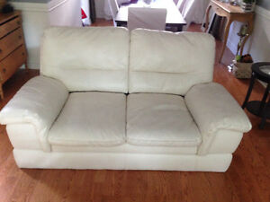 Leather 2 seat couch
