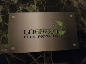 *Go Green Metal Recycling *  Free Appliance and metal pickup