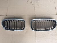 BMW E90 E91 M SPORT CHROME GRILLS X2 PAIR BREAKING 1 3 5 6 7 SERIES