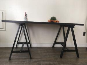 IKEA Desk + Tv Stand + Wall Shelves