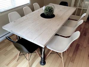 Table de cuisine rustique industriel à vendre !