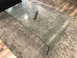 On Hold - plexiglass coffee table free for pickup
