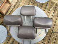 Saab 93 headrests grey leather