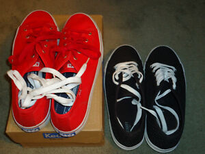 womens KEDS RED Double up Shoes 9.5 9/2 lot of 2 casual shoes
