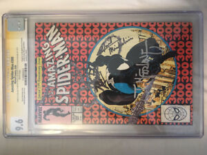 Amazing Spiderman 300 cgc 9.6 3x signed Stan lee mcfarlane miche