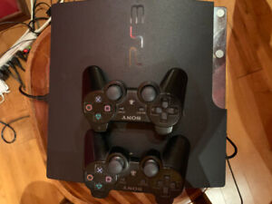 PS3- 150gb, 2 controllers, cords and games