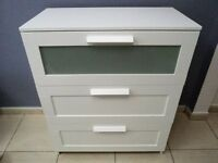 WHITE IKEA BRIMNES CHEST OF DRAWERS