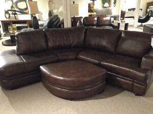 Stylus Paris Leather Sectional