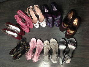 LOTS OF SHOES WITH HEELS