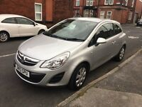 Vauxhall corsa 1.2 petrol 2013 3dr silver