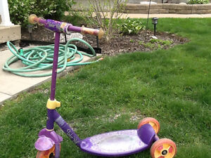 Kids tinkerbell scooter