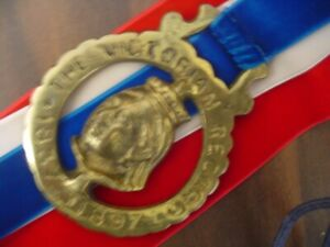 Vintage Collectible Brass Horse Harness England Royalty Medals