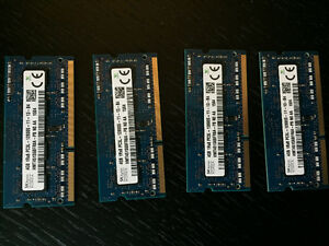 4GB Laptop Ram x4 Hynix PC3L-12800S-11-12