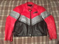 Alpine stars leather jacket and trousers..