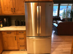 22.7 cu.ft. 3 Door Stainless Steel Refrigerator with Ice Maker