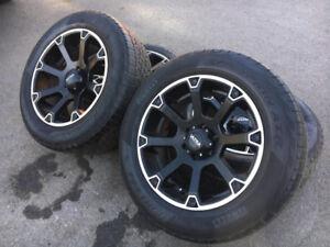 4 mags 20'' Ultra Motosport avec pneu été Pirelli pour Ford F150