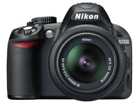 Nikon D3100 with 55-300 mm zoom lens