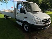 Mercedes Sprinter 313 3.5T XLWB Extra Long 20ft Dropside, Very Clean