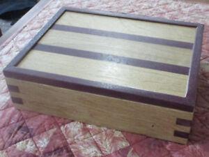Handmade Exotic Wood Jewelry Box