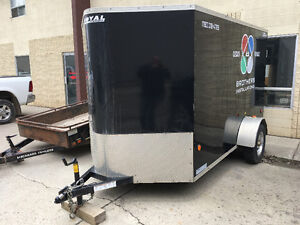 10' V-Nose cargo trailer