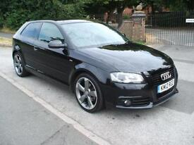 AUDI A3 2.0TDI 140 6 SPEED £30 ROAD TAX START/STOP BLACK EDITION