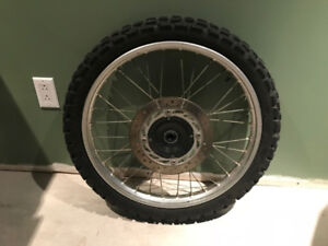 XR650l Front Wheel Assembly With Hardware and TIre