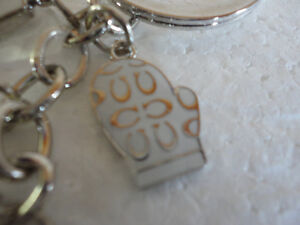 Brand new Coach keychain keyring skates mitts gloves  charms London Ontario image 6